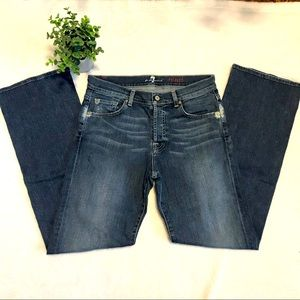 7 for all mankind mens relaxed button fly jeans size 30